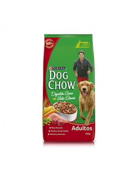 Dog chow adultos medianos grandes. Sabor carne x 21kg