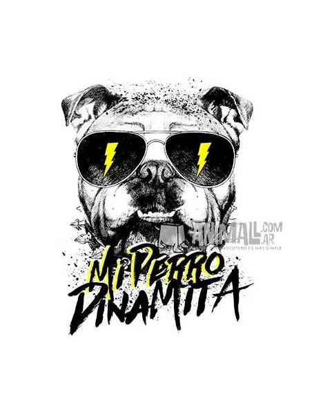 "Remera Dama ""Perro Dinamita"""