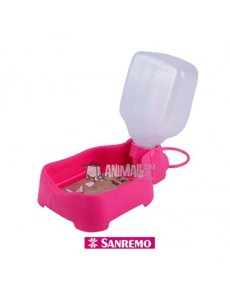 Bebedero portatil rosa