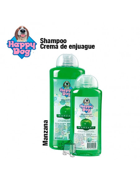 Happy dog shampoo manzana x 500 cc