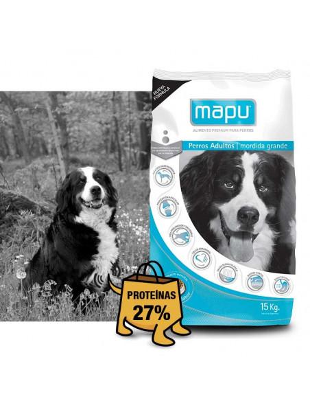 Mapu perros adultos x 15 kg Mordidas grandes.