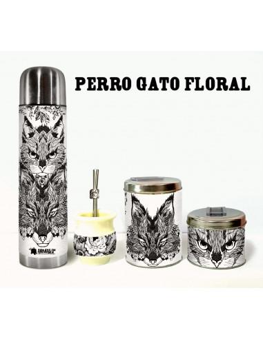 Kit MascoMatero PerroGato Floral