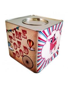 Lata Contenedora Alimento Balanceado Vintage Dog Multicolor x 5 kg