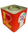 Lata Contenedora Alimento Balanceado Vintage Dog Caniche Naranja 5 kg