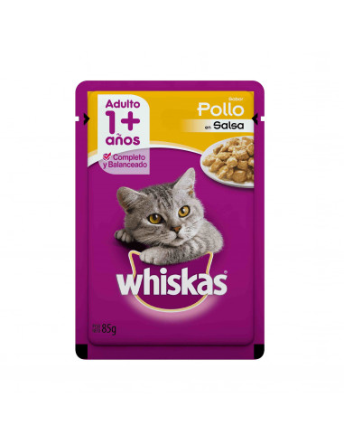 Whiskas Pouches. Alimento húmedo par gatos