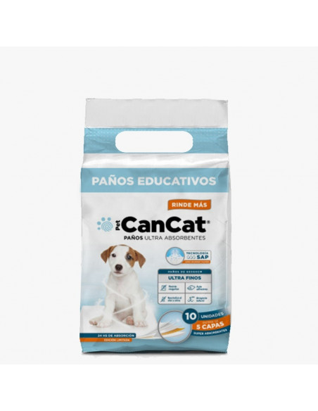 Paños educativos Can Cat Boy premium x 10 unidades  (60x60)