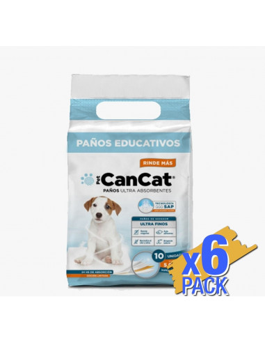 Paños educativos Can Cat Boy premium x 10 unidades  (60x60)