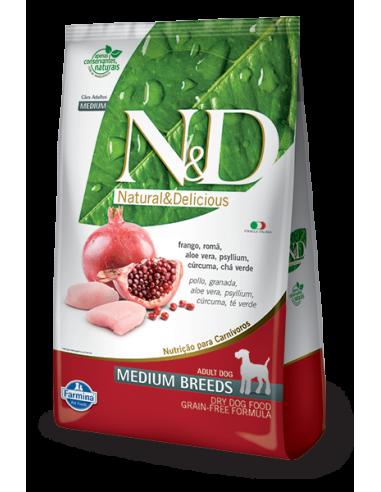 N&D GRAIN FREE CANINE POLLO Y GRANADA...