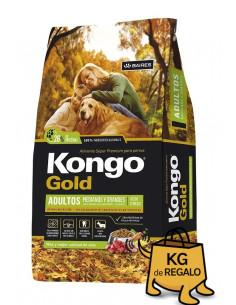 Kongo Gold Adultos Medianos y Grandes x 21+3 kg