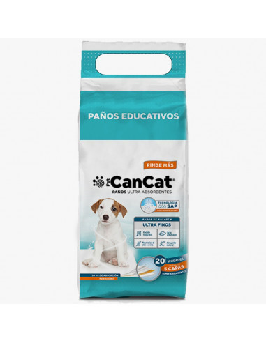 Paños educativos Can Cat premium x 20 (60x40)
