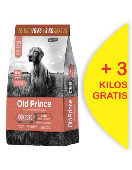 copy of Old Prince Proteínas Noveles Cordero Dog Medium & Large Breeds 15+3 kg