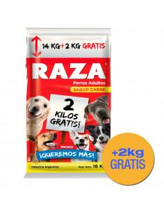 Raza Perro Sabor Carne 14+2 kg