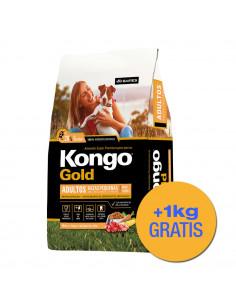 Kongo Gold Perro Adulto Mordida Pequeña x 3+1 kg de regalo!