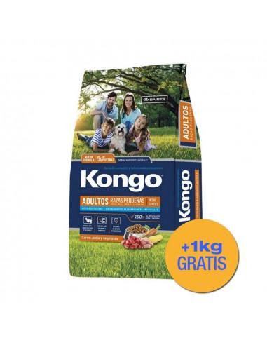 Kongo Natural Perros Razas Pequeñas x 3+1 kg de regalo!