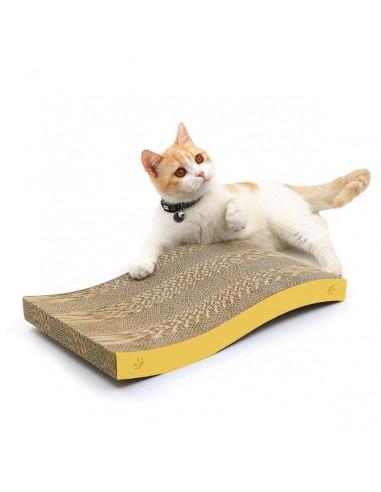 Rascador Para Gatos Forma de Onda con Hierba Gatera
