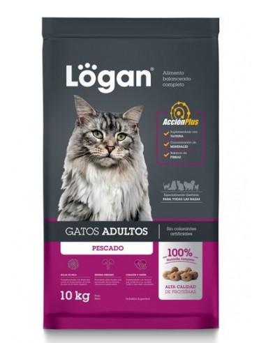 Logan Gatos Adultos Premium Sabor Pescado x 10 kg