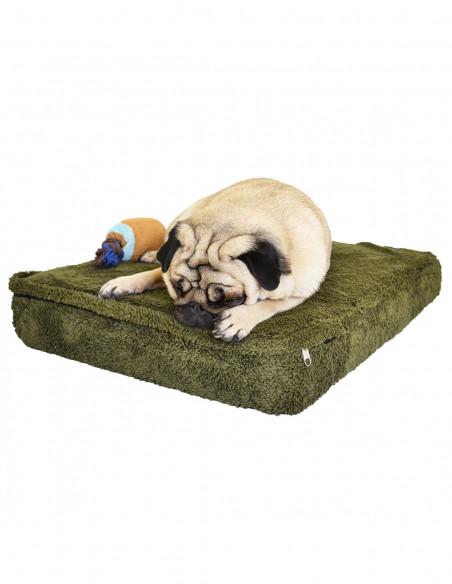 Colchon para Perros y Gatos Corderito Rafine 50x80 Verde Animall.com.ar