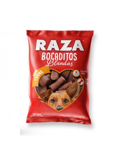 Bocaditos Blandos Raza Perros Sabor Carne x 65 gr