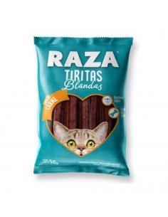 Tiritas Blandas Raza Gatos Cachorros y Adultos Sabor Carne x 50 gr