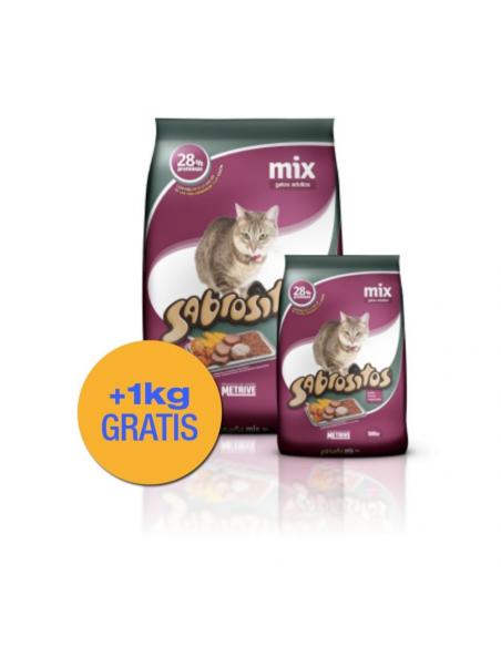 Sabrositos Mix Gatos Adultos x 10 +1 kg