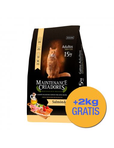 Maintenance Criadores Gatos Adultos Salmón y Atún x 15+2 kg