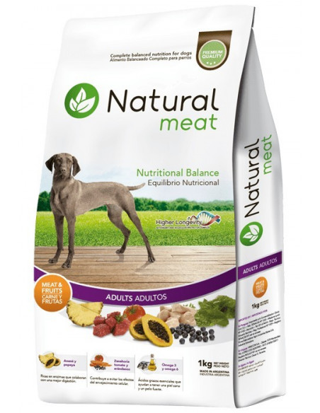Natural Meat Adulto x 15 kg